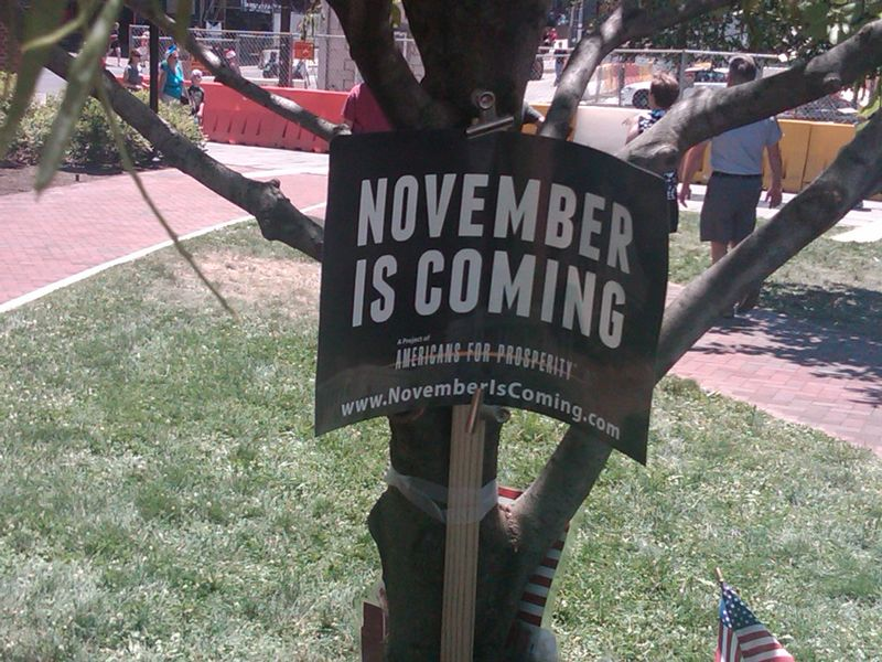 November is Coming Sign
