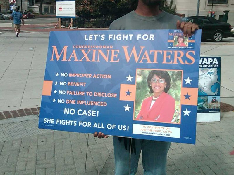 Maxine Waters Sign