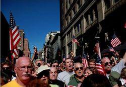 No Mosque Rally - Flags