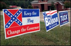Haley Barbour - Confederate Flag