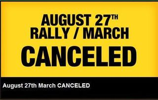 March and Rally Canceled