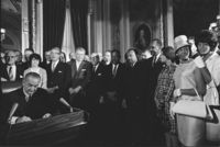 LBJ Signing Voting Rights Act