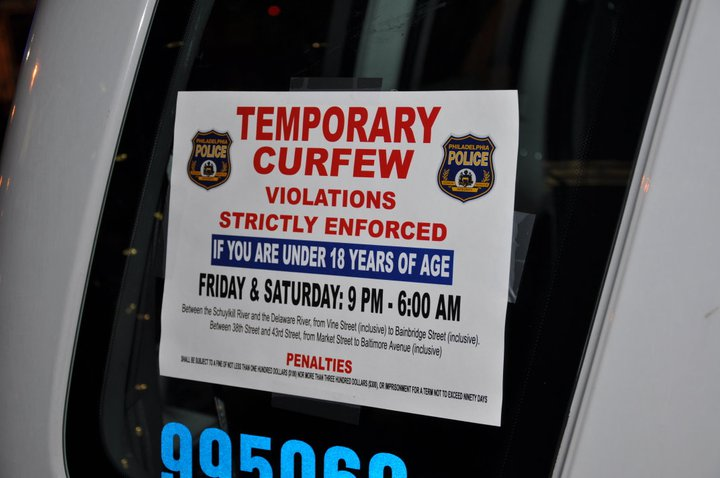 Flash Mob - Curfew Sign