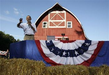 Obama Bus Tour - Barn