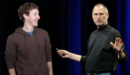 Steve Jobs and Mark Zuckerberg
