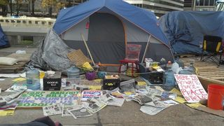 Occupy Philly - Tent - 11.3.11