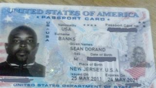 Sean Banks Passport Card