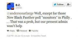 New Black Panthers Tweet 1.1 - 6.24.12