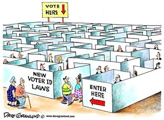 Cartoon Voter ID Maze