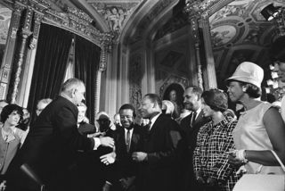President Johnson - MLK - Signing Voting Rights Act