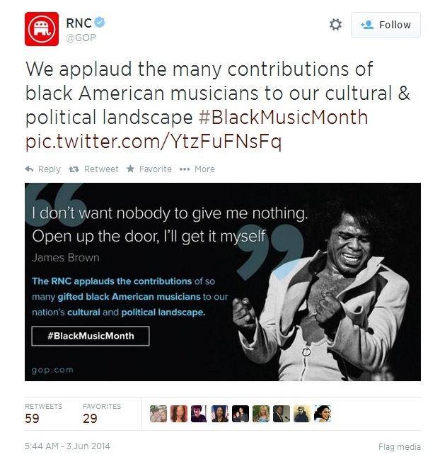 RNC - James Brown Tweet
