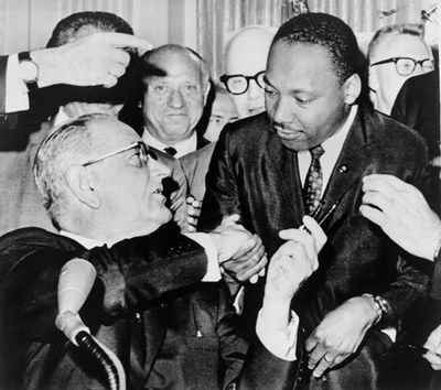MLK Signing Ceremony for Civil Rights Act of 1964