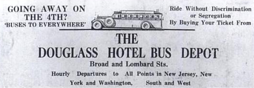 Douglass Hotel Bus Ad - Cropped