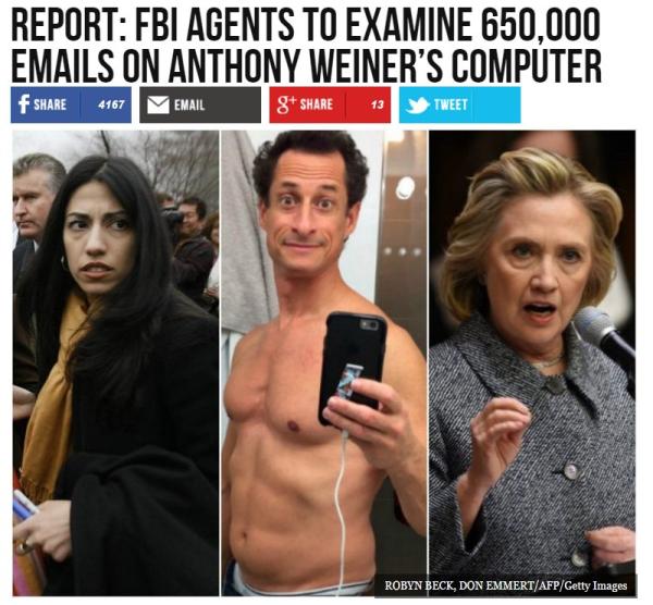 FBI will examine 650,000 emails