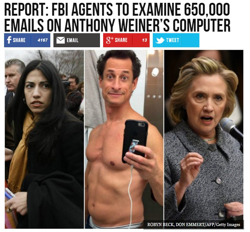 FBI will examine 650,000 emails