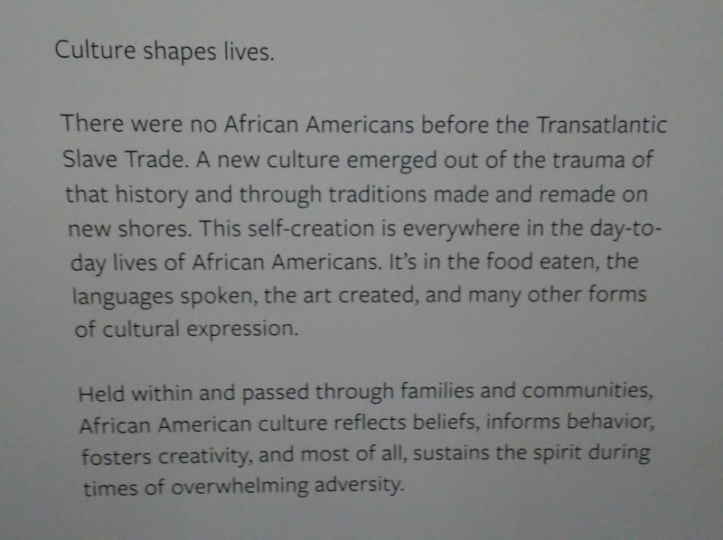 NMAAHC - Culture Shape Lives