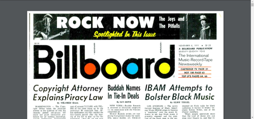 Billboard - IBAM - Nov. 6  1971