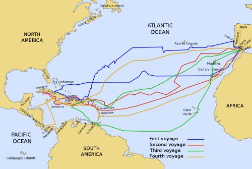 Christopher Columbus Four Voyages
