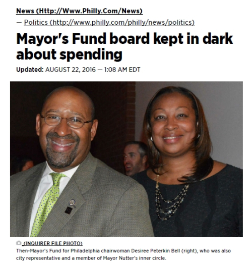 Mayor's Fund Kept in the Dark