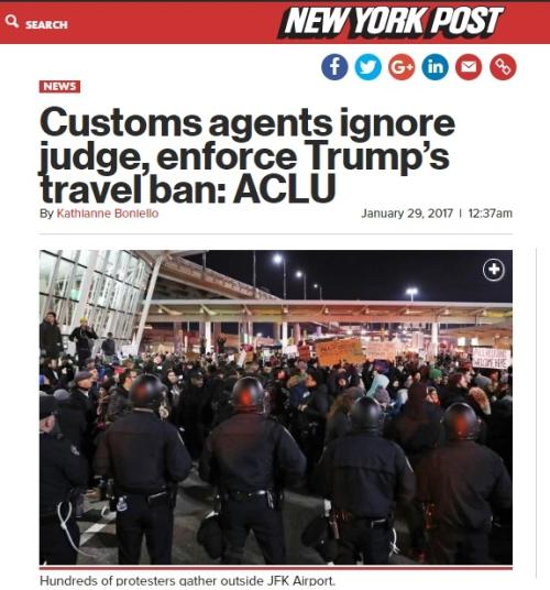 ACLU - Customs Agents Ignoring Order