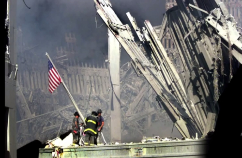 9-11 - Firefighters - Flag