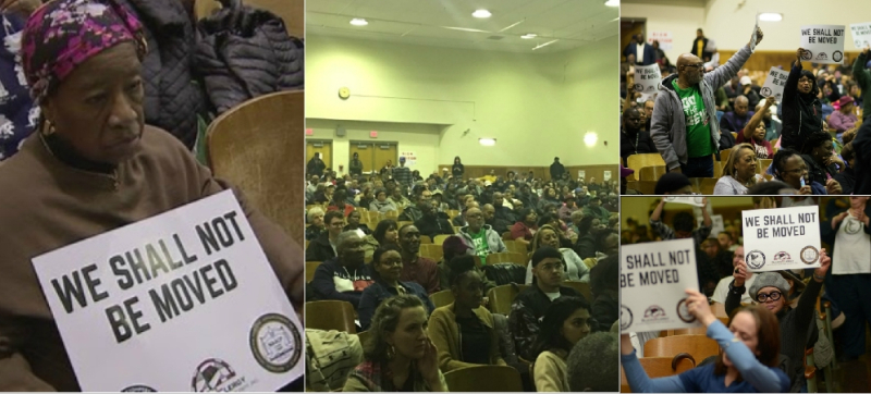 #WeShallNotBeMoved Town Hall Meeting Collage