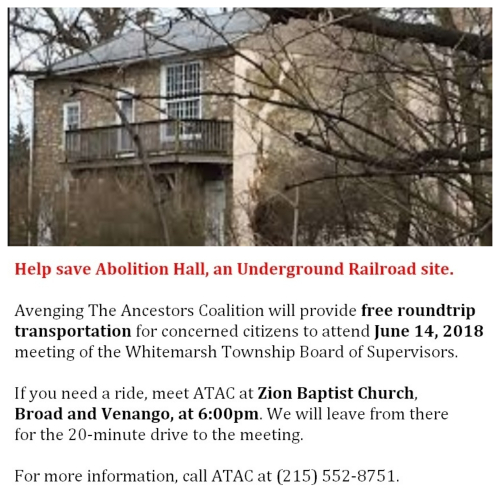 #AbolitionHall - ATAC - June 14  2018