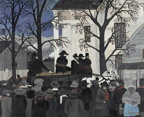 Horace Pippin - John Brown Going to His Hanging