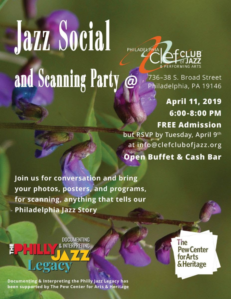Spring Social and Scanning Party Flyer - Clef Club