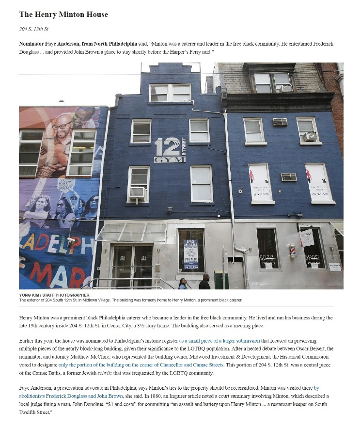 Henry Minton House - Inquirer