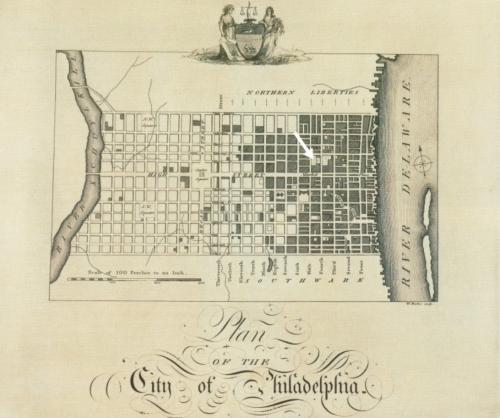 Birch's Views of Philadelphia in 1800 - Plan of the City of Philadelphia - Feature