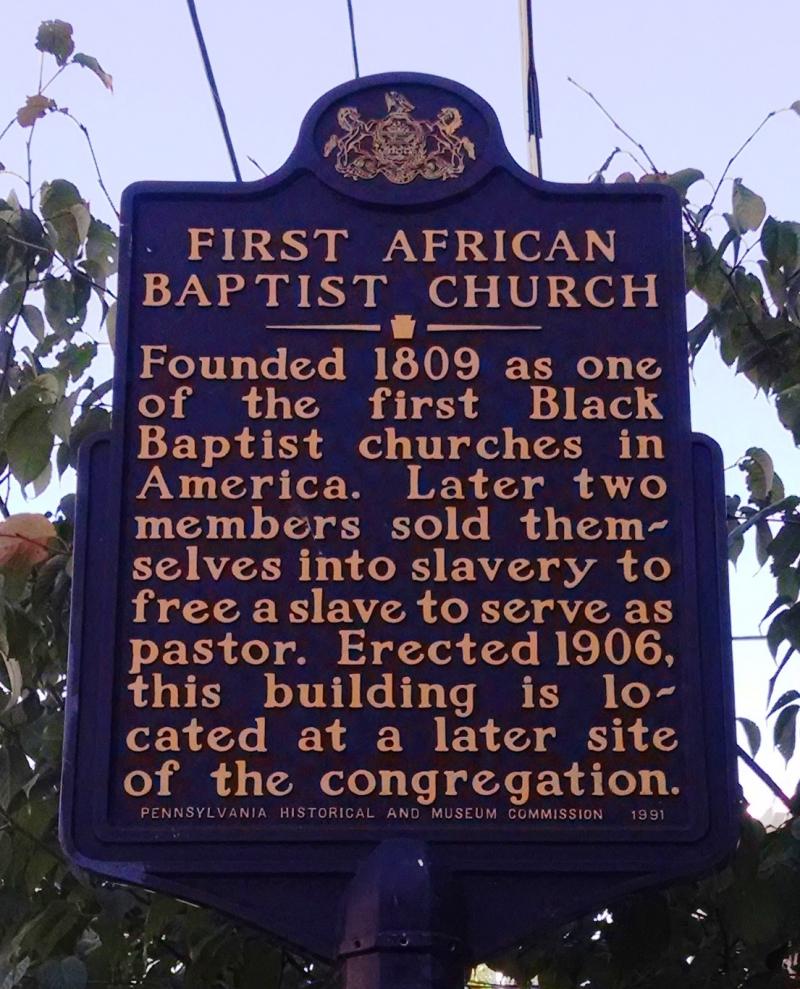 First African Baptist Church Historical Marker