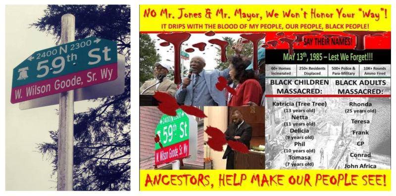 W. Wilson Goode Sr Street Sign Collage