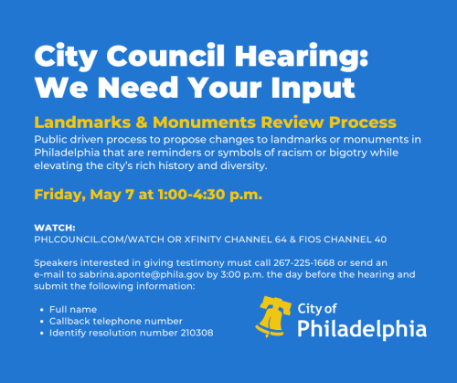 City Council Hearing - Landmarks & Monuments Review Process - May 7  2021