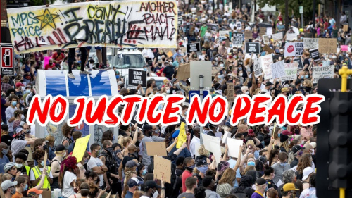 George Floyd - No Justice  No Peace