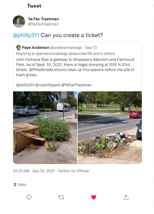 Illegal Dumping Tweet - September 13  2021