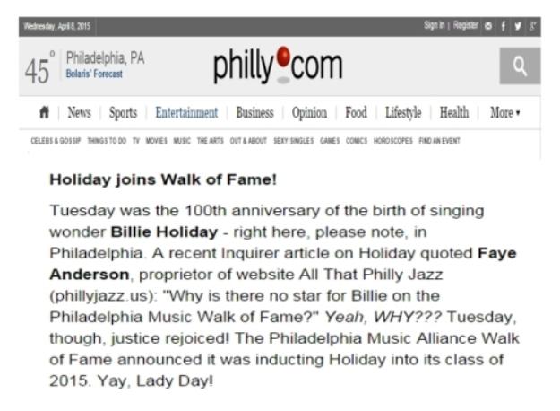 Billie-holiday-joins-walk-of-fame-4-8-15