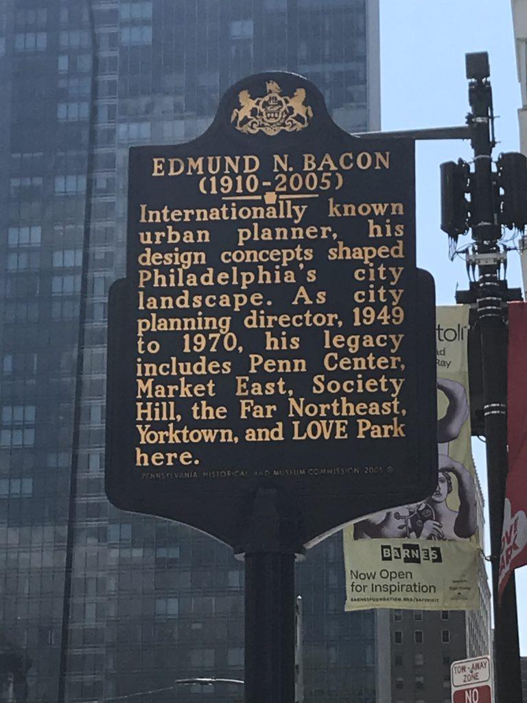 Edmund Bacon Historical Marker - Dec. 15  2020